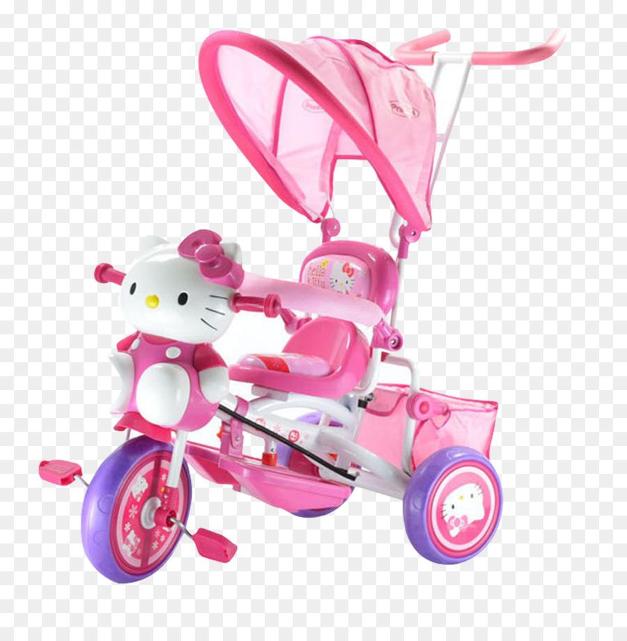 Hello Kitty Auto Bicicletta Bambino Triciclo Hello Kitty
