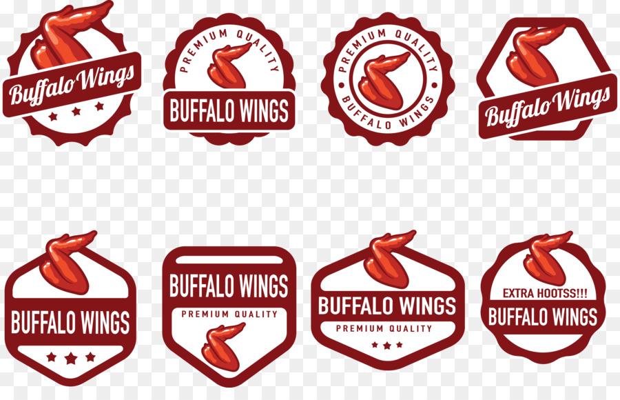 Buffalo Wing Chicken Euclidean Vector Fresh Food Badge Buffalo
