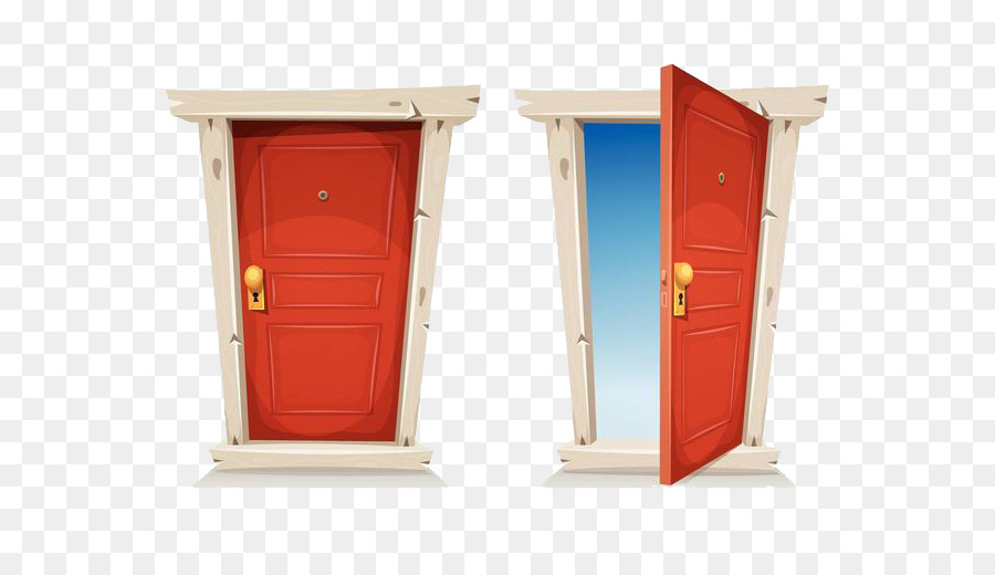 Door Cartoon Stock Illustration Illustration Open The
