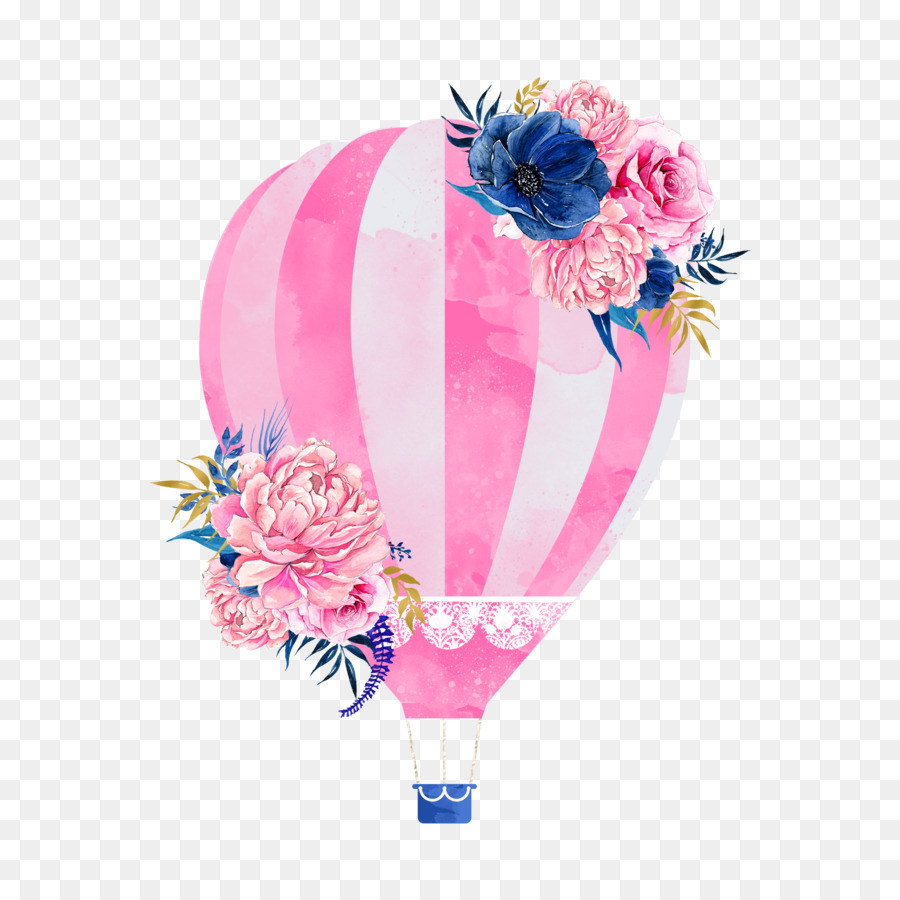 Pink Hot Air Balloon Png Download 2400 2400 Free