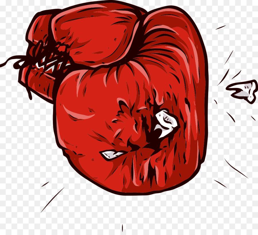 guantes de boxeo guantes de boxeo de dibujos animados rojo