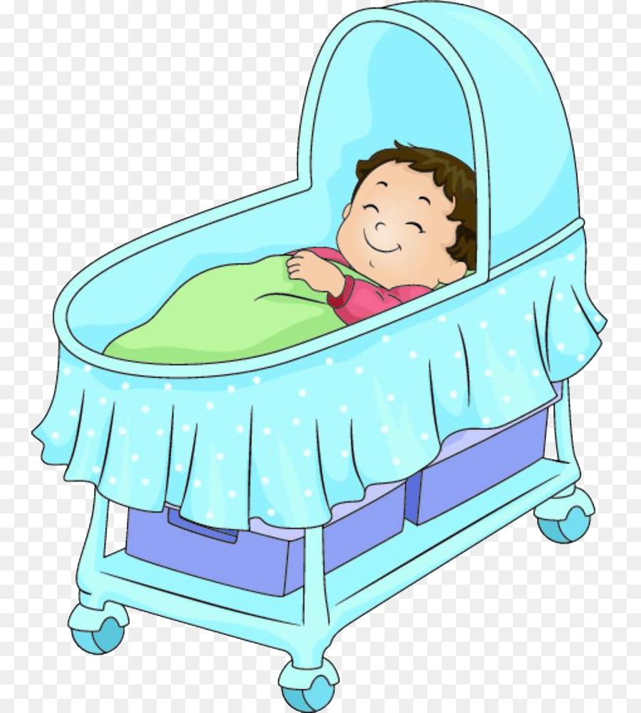 Cama para bebé de dibujos animados Ilustración - Un bebé en un ...
