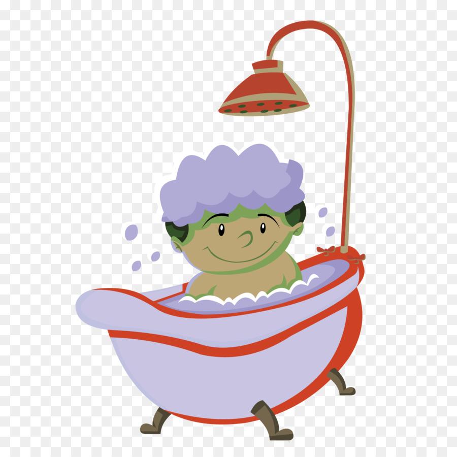 Cartoon Clip art - Vector cartoon kids bath png download - 1501*1501 ...