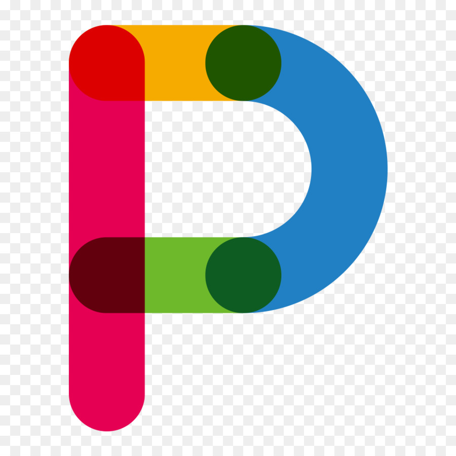 Red Blue Letter P
