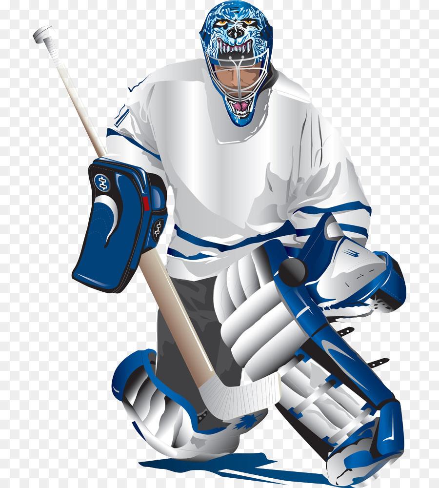 Ice Hockey Goaltender Euclidean Vector Hockey Player Png Download