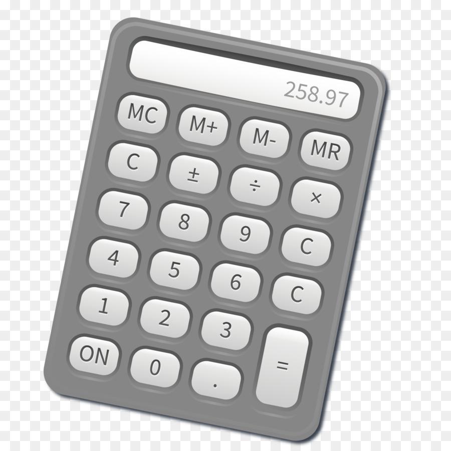 scientific calculator fixed interest rate loan calculation vector