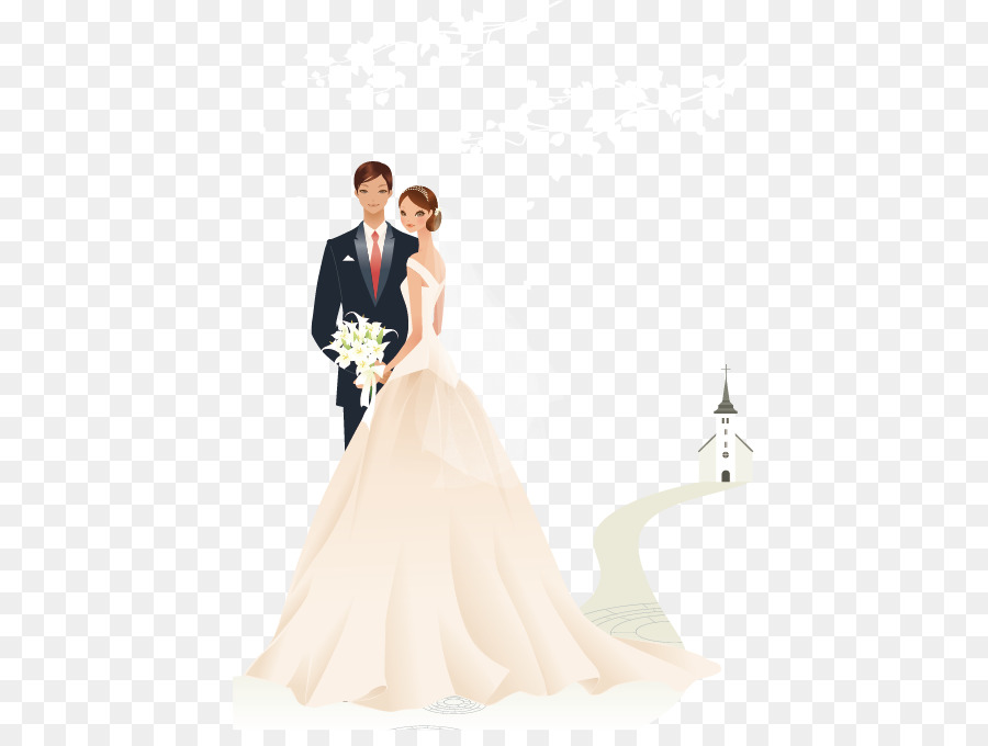 Wedding invitation Marriage Bridegroom - The bride and groom ...