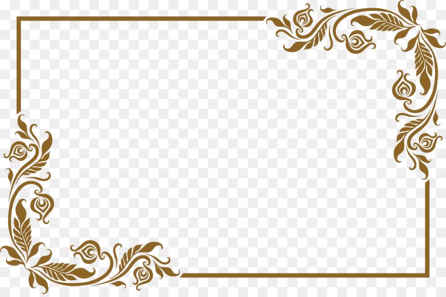 Picture frame - Lovely old golden frame png download - 1275*841 ...