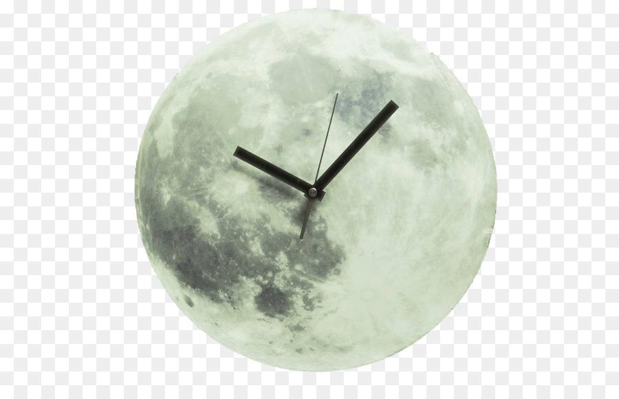Clock Light Full Moon Wall Moon Clock Png Download 589564