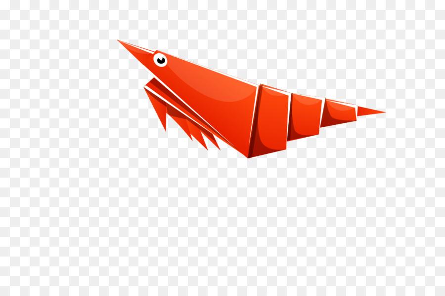 Paper Origami Shrimp