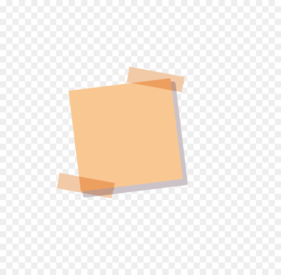 Paper postit note sticker square angle png