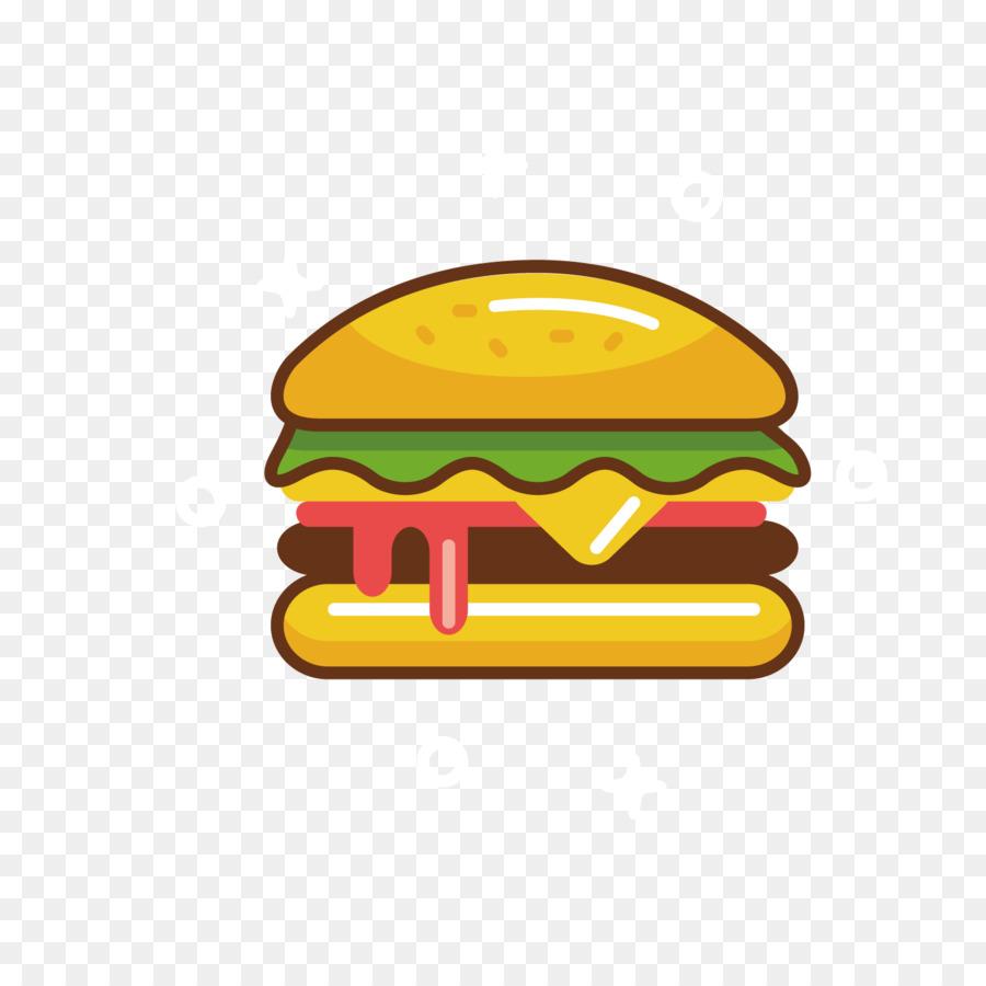 Hamburger Fast food Cheeseburger Clip art - Yellow Burger ...