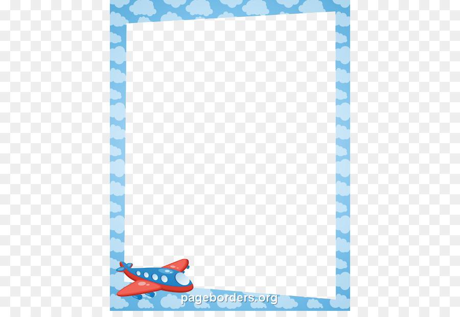 Airplane Paper Clip art - Aqua Border Frame Transparent PNG png ...