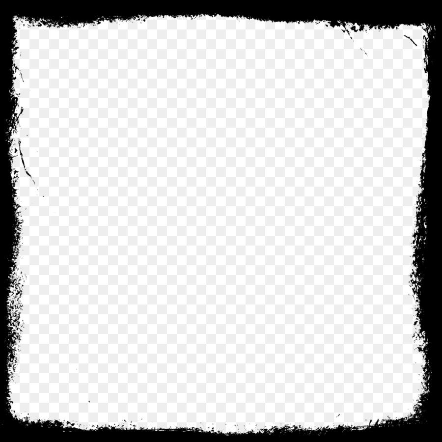 En blanco y negro Patrón Cuadrado - Marco cuadrado PNG Imagen ...
