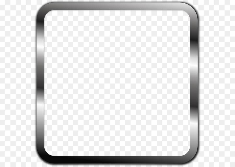 Black and white Pattern - Black Border Frame PNG Transparent png ...