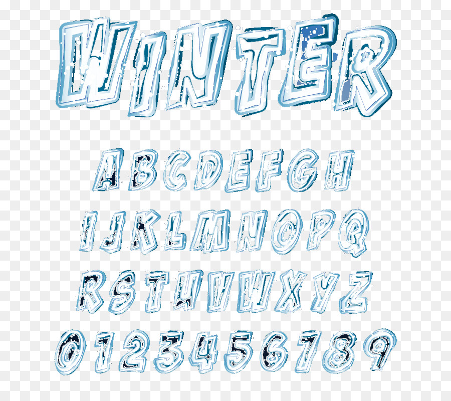 Winter Letter Icon Frozen Winter Word Png Download 800800