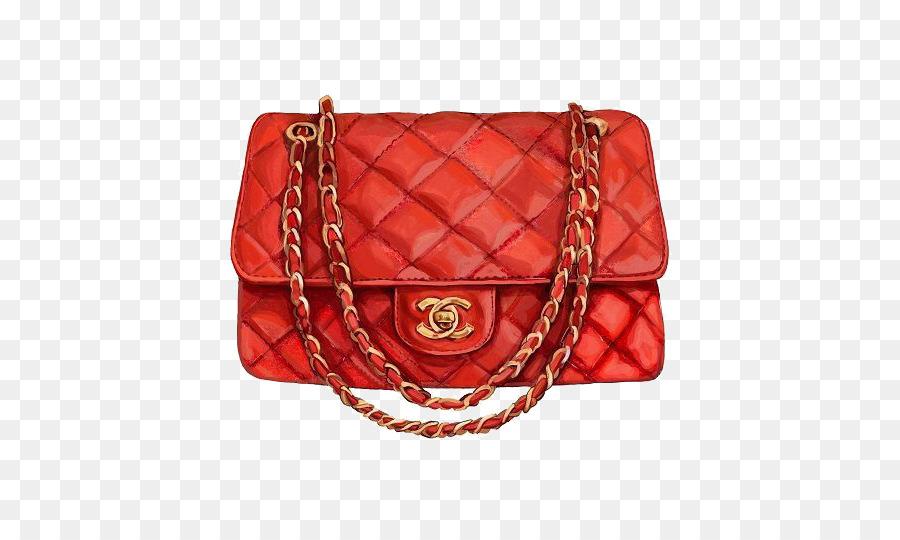 f91011e2691bea Chanel Handbag Watercolor painting Fashion - Women bag png download ...