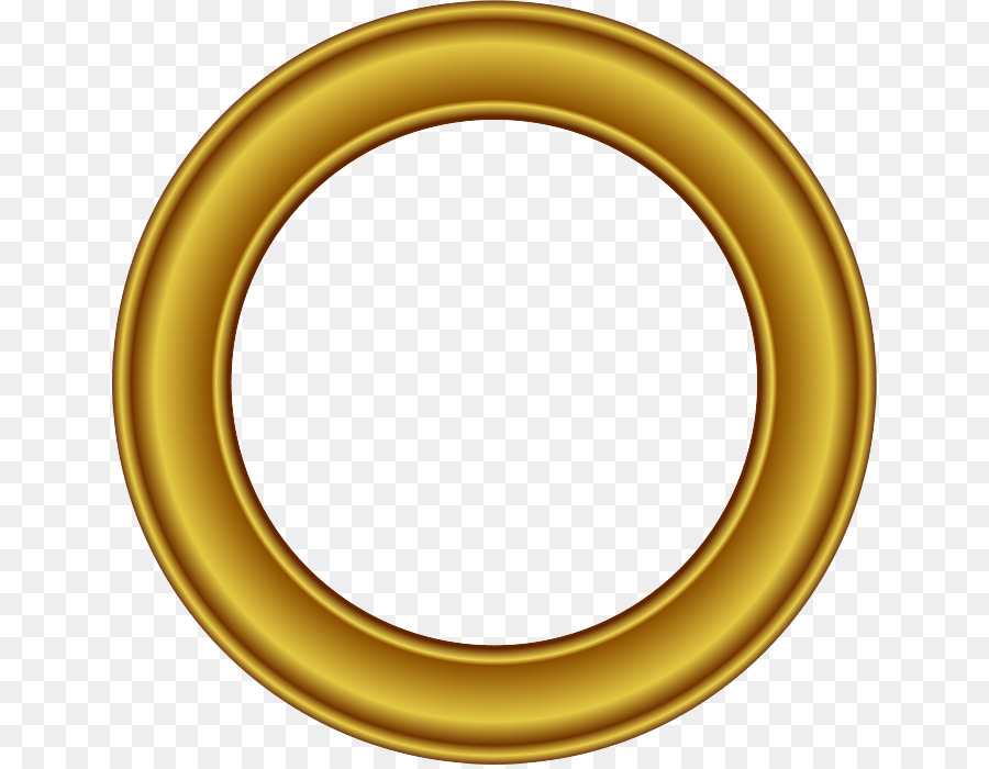 Picture frame Circle Gold Clip art - Golden Round Frame PNG Free ...