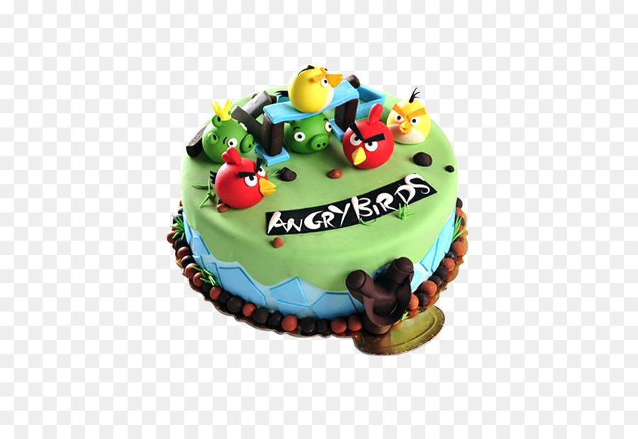 Birthday Cake Torte Bird Angry Birds Cake Png Download 701609