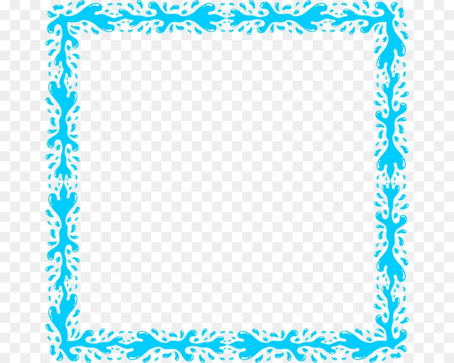 f05468590c38 Splash Clip art - Aqua Border Frame PNG Transparent Image png download -  720 720 - Free Transparent Water png Download.