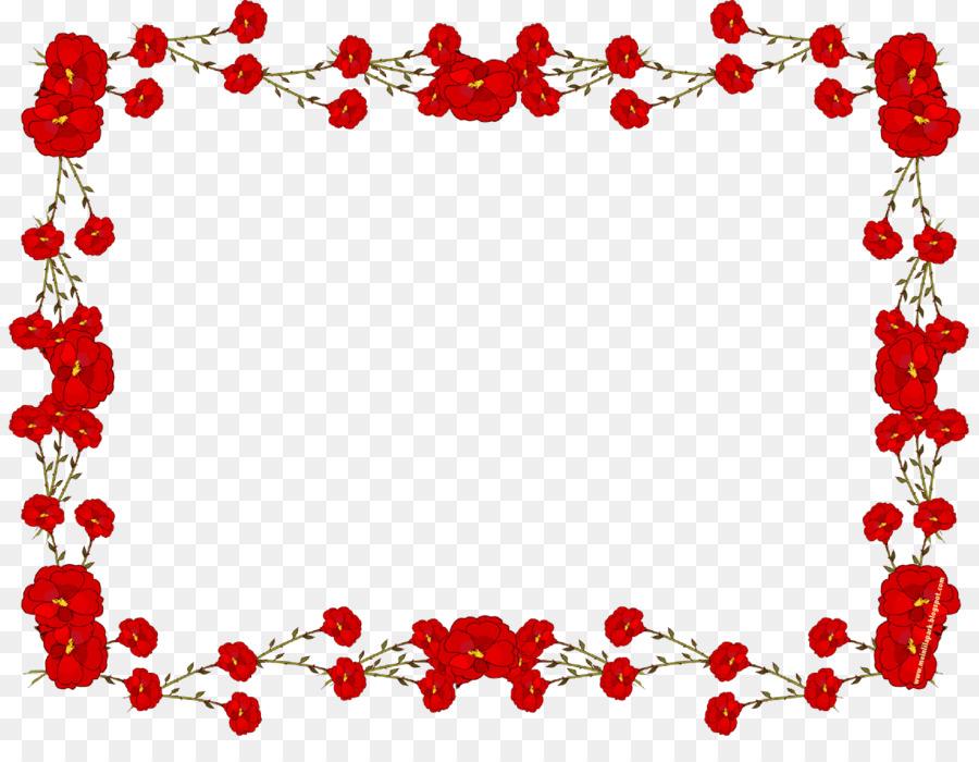 Picture frame Flower Rose Clip art - Red Flower Frame PNG ...