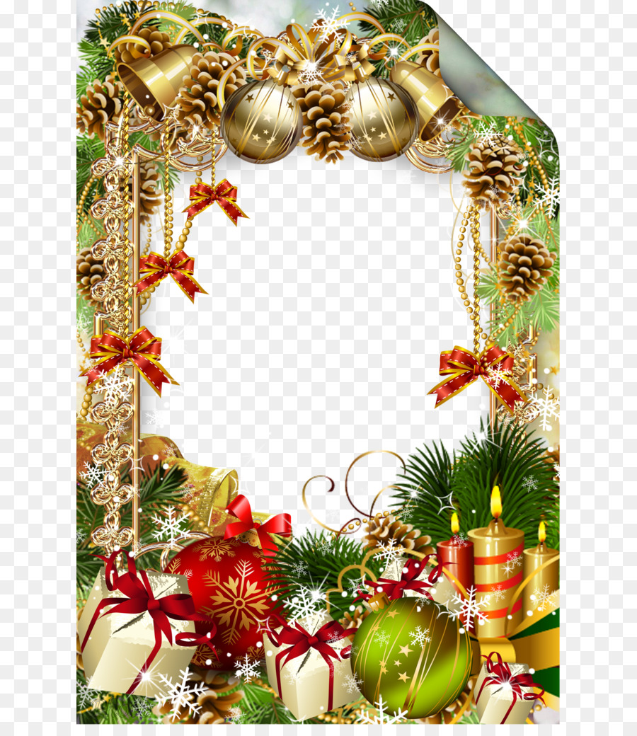 Christmas ornament iPhone X Picture frame - Christmas pine cones ...