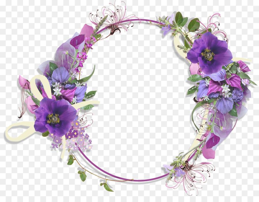 Flor Púrpura Clip art - Floral Redondo Marco PNG Pic png dibujo ...