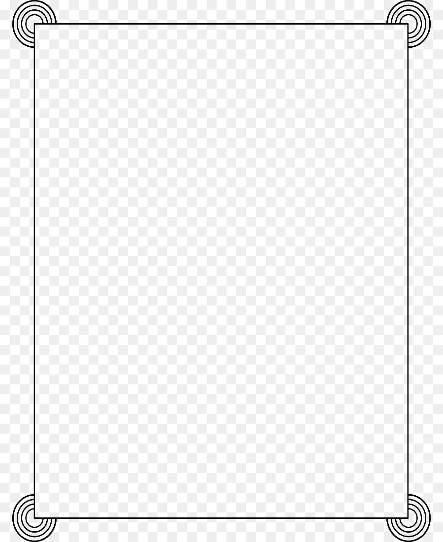 Dòng Điểm Góc Đen và trắng - Trắng Biên giới Khung Ảnh PNG