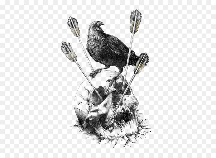 Calavera Carlsberg Fjord Human Skull Symbolism Illustration Crow
