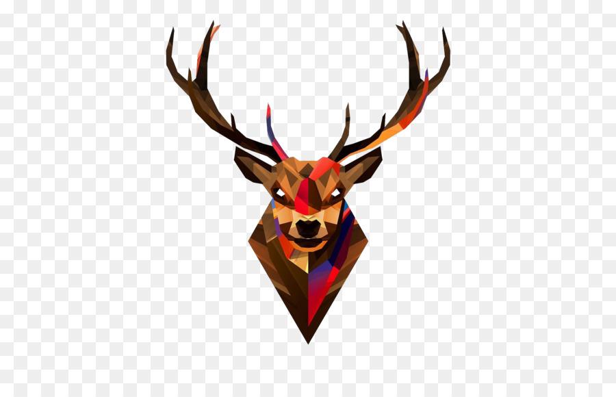 red deer head antler wallpaper deer head transparent background