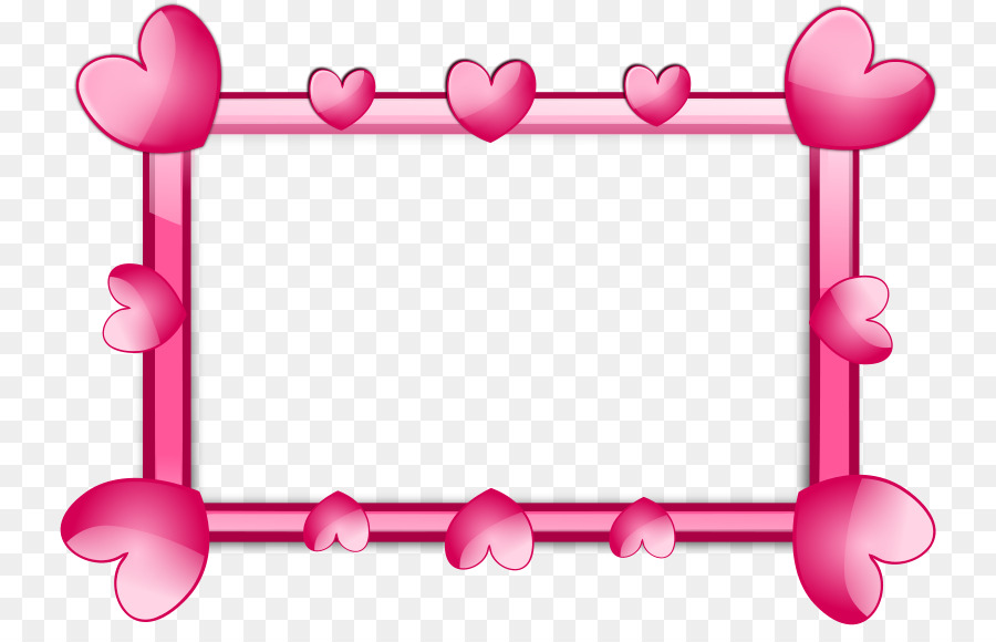 picture frame heart pink clip art pink border frame png hd png