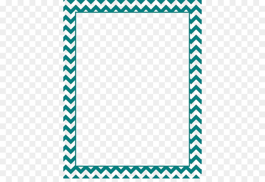 Paper Green Chevron Blue Clip Art Teal Border Frame Png