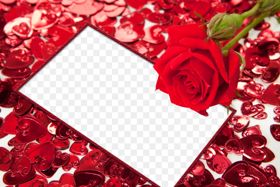 Picture frame Heart High-definition video - Red Flower Frame PNG HD ...