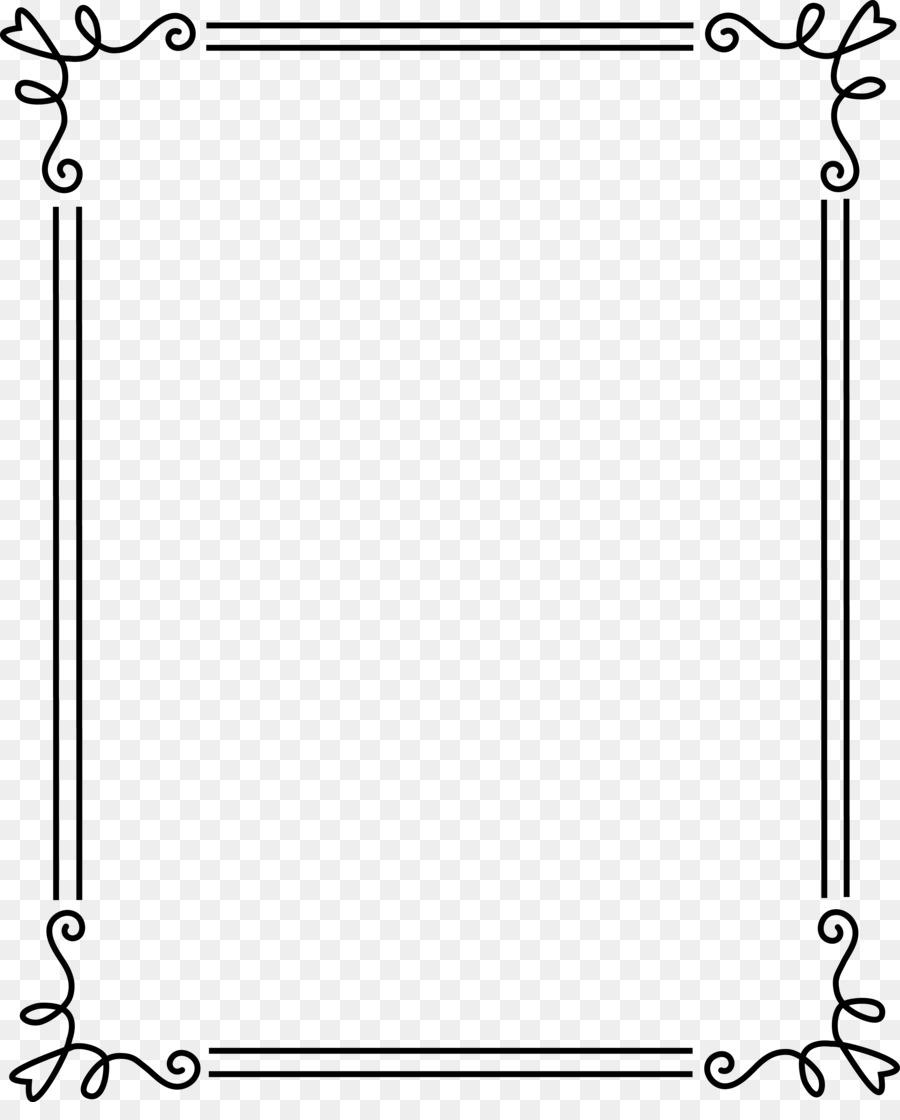 Frame border. Black and white png
