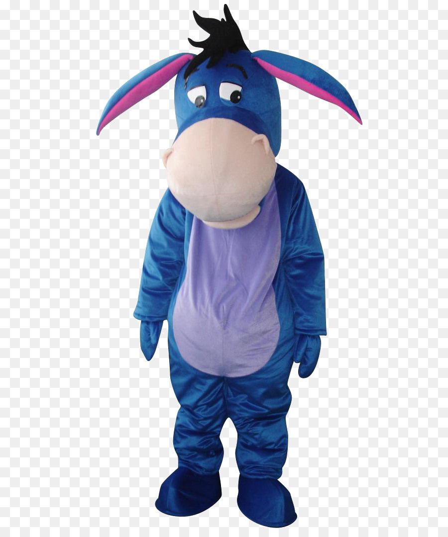 eeyore costume party adult clothing - blue donkey png download - 760