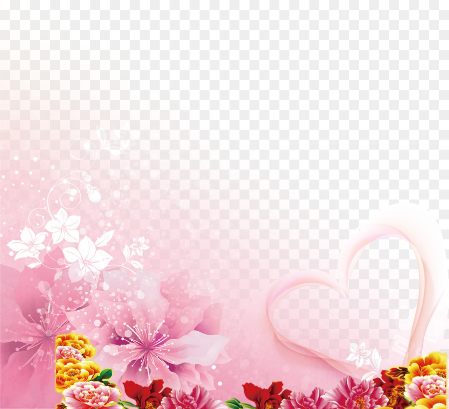 Floral Wedding Invitation Background png download - 976*889 - Free