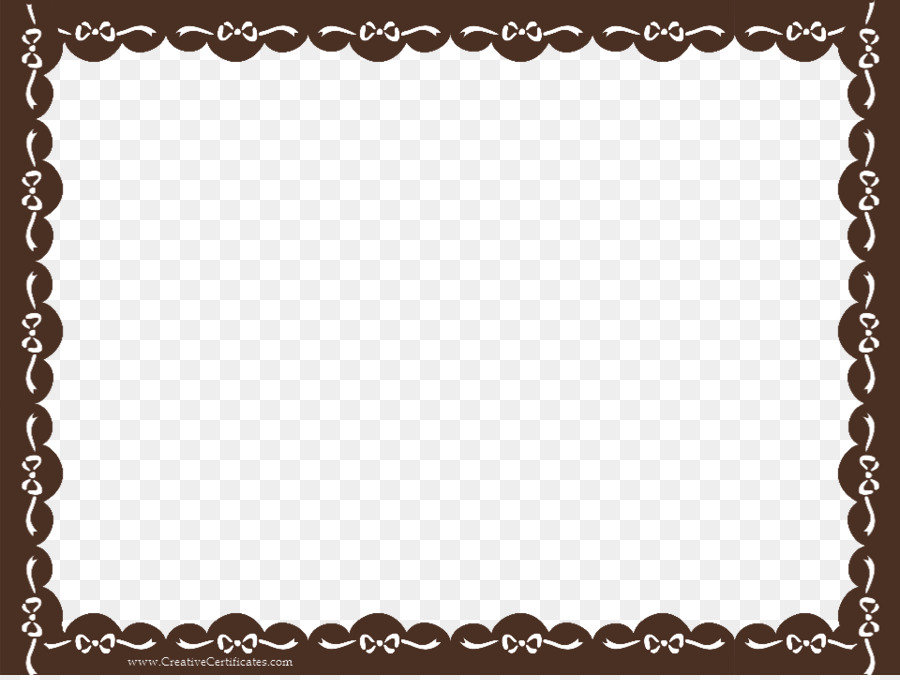 academic certificate template clip art brown border frame transparent background