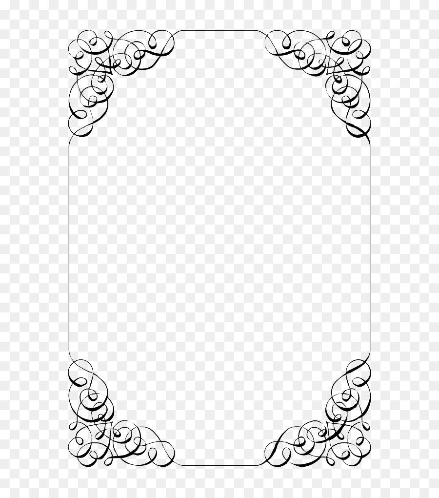 Wedding invitation Template Paper Party - Wedding Invitation Border ...