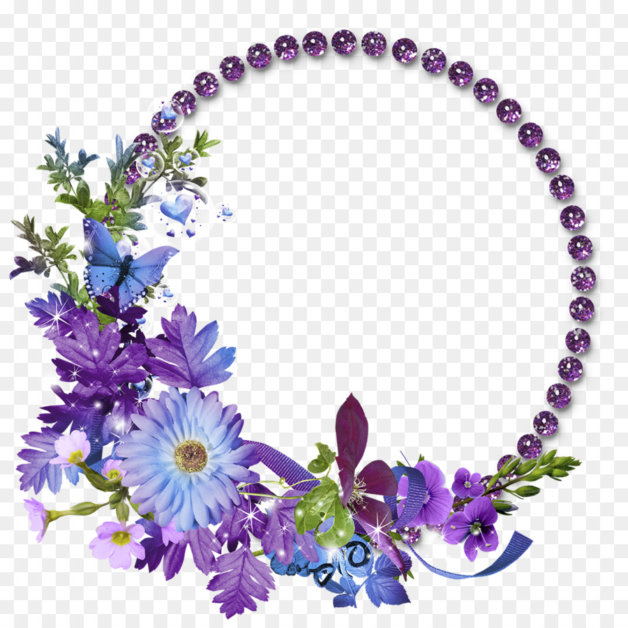 Marco de imagen de la Flor de Clip art - Floral Redondo Marco PNG ...