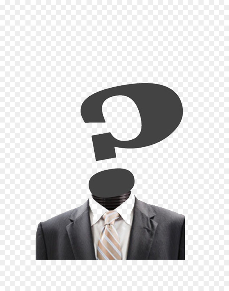 template poster icon wearing a suit creative people question mark