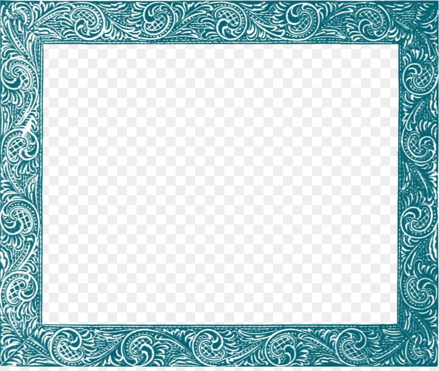 Picture frame Clip art - Teal Border Frame PNG Free Download png ...