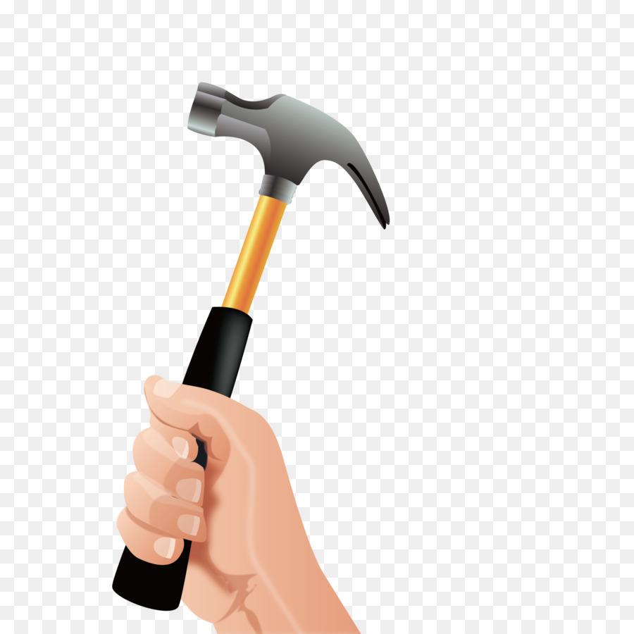 El encuadre de martillo de la herramienta de Mano - Vector de ...