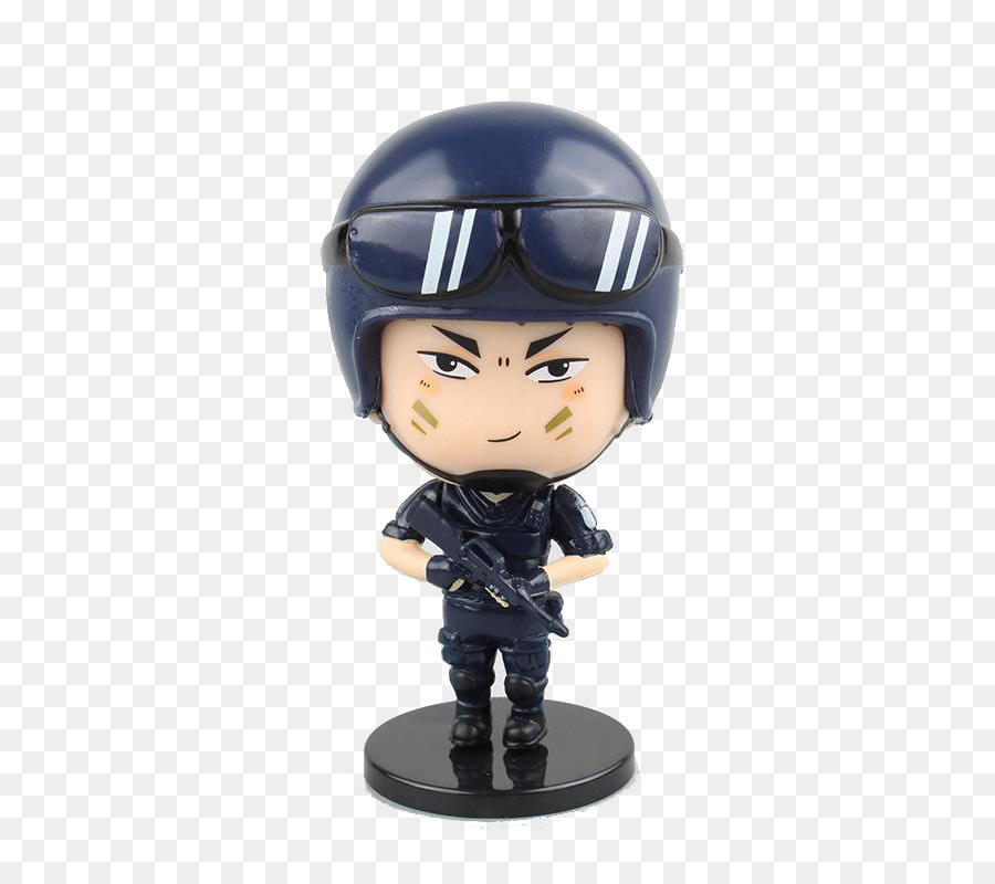 Q-version Police officer Cartoon SWAT - Q version of handsome