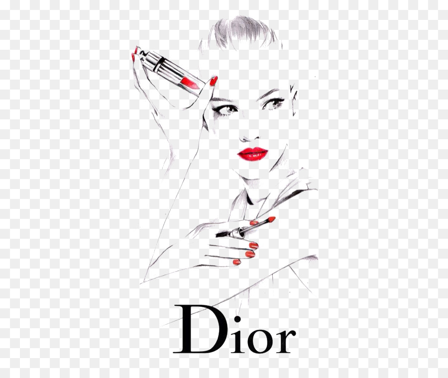 christian dior se lipstick fashion drawing illustration