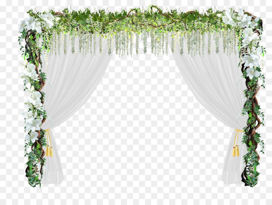 Flower Door Wedding Arch Romantic Love Wedding Door Png Download