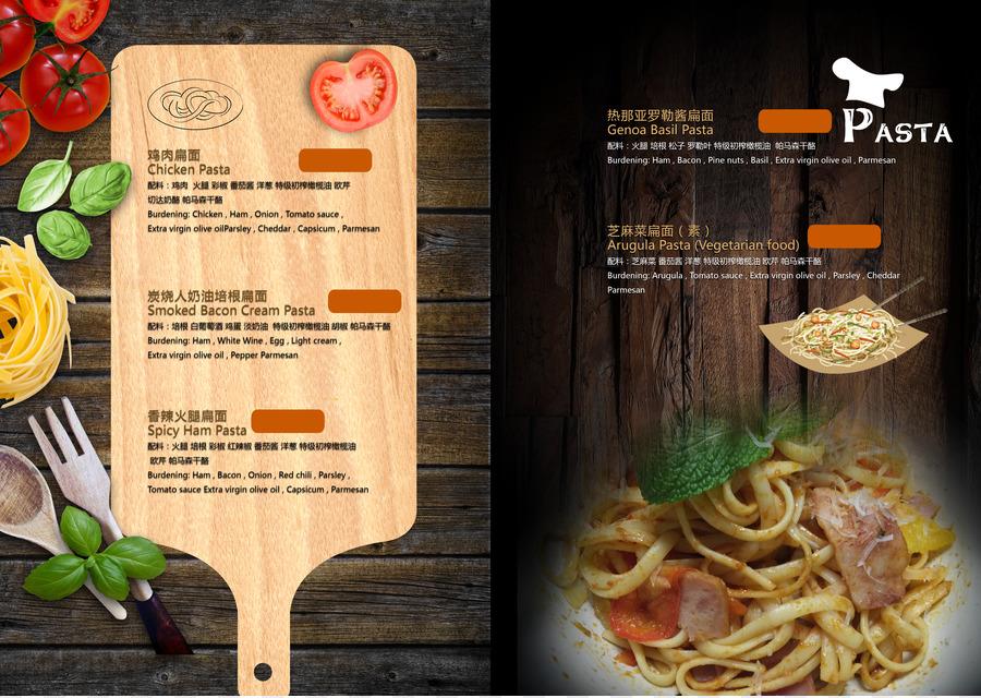 european cuisine menu restaurant breakfast cafe creative menu