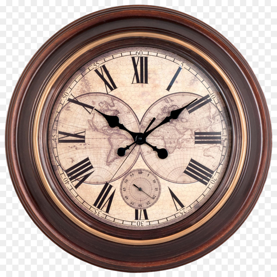 Clock Wall Window Antique Vintage Wall Clock Png Download 1000