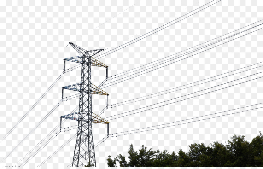 Transmission tower High voltage Overhead power line Power cable ...
