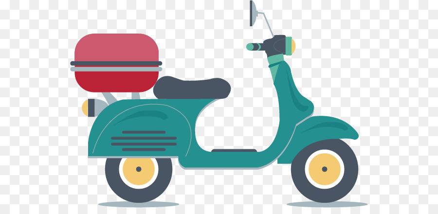 Car Scooter Motorcycle Euclidean Vector Cartoon Mini