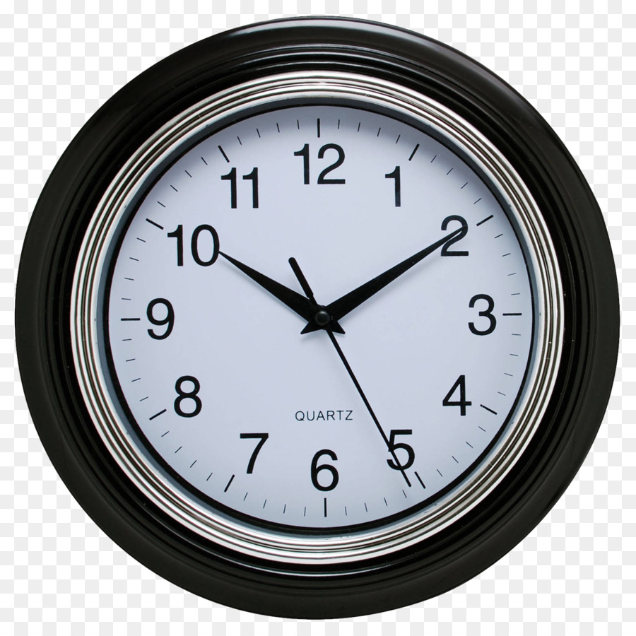 Table Clock Living Room Bedroom Black Wall Clock Png Download